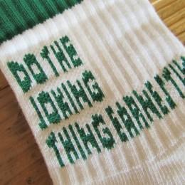 ホワイトには「グリーン」のロゴが入ってますよ。