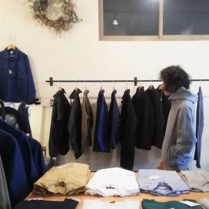 Dotsume Sweat Parka ( モデル:(永遠の新人?)店主 172cm,57kg/着用サイズ:M )