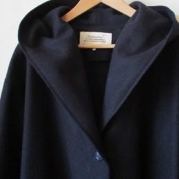 VC-1216 Melton hooded coat