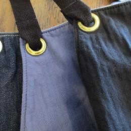 (ひだりから)wash denim,wash blue,wash black