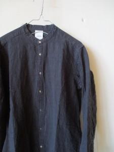 高密度リネンロングシャツ