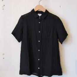 水撚りリネンシャツ (Black)