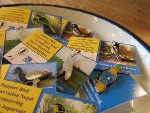 nepal wild bird pin budge