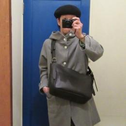大きさ比較。)モデル:番記者(パシャ?)店主 172cm
