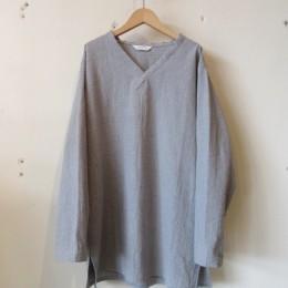 L/S V-neck Shirt (Gray)