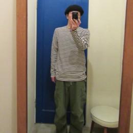 モデル:JKTを脱いただけ(!?)の、店主 172cm,57kg/BLACK着用