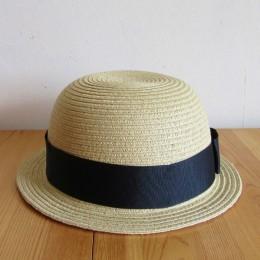PAPER BRAID BOWLER HAT