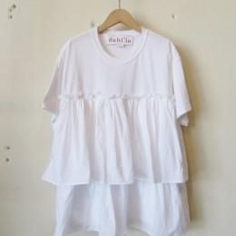 リメイクフリルTシャツ (WHITE)