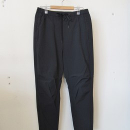 Nylon Slim Easy Pants (Black)