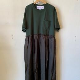 リメイクTシャツワンピース (GREEN)