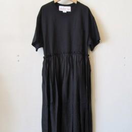 リメイクTシャツワンピース (BLACK)
