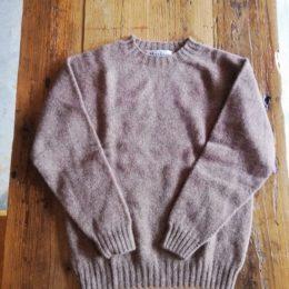 crew neck sweater (nutmeg)