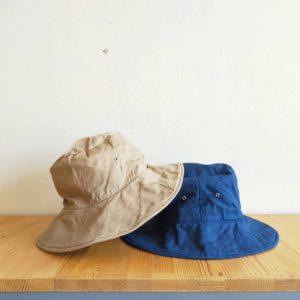 GARDENER HAT(ひだりから、BEIGE, MIDDLE BLUE になります。)