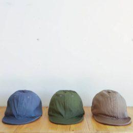GARDENER CAP(ひだりから、CHARCOAL, KHAKI, MOCHA になります。)